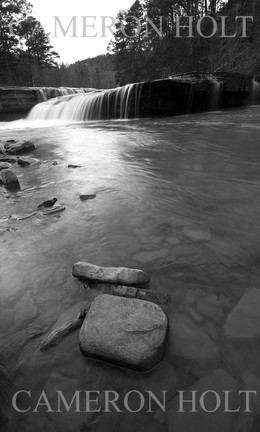 Haw Creek Falls Photo 5 Black and White