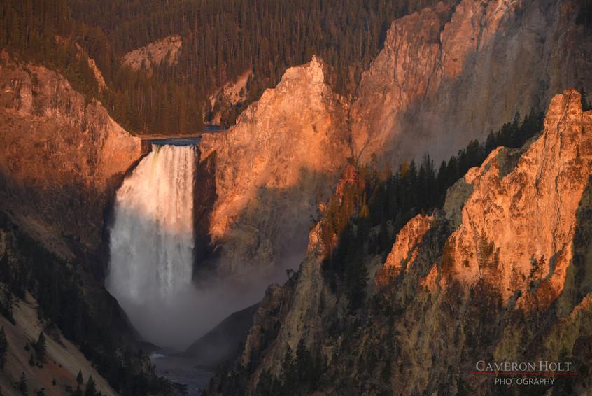 Sunrise at Lower Falls