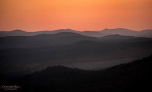 Sunset On Pinnacle Mountain