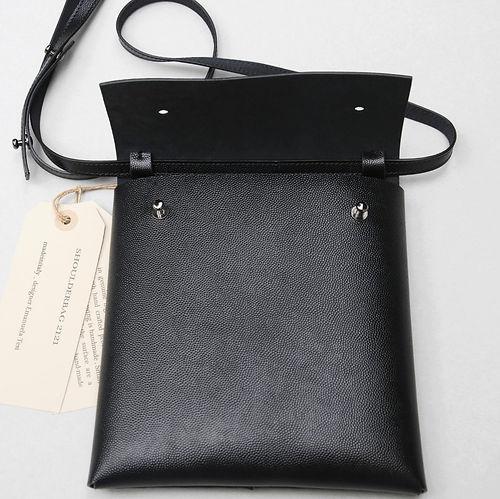 Organized shoulder pocket bag_man calf leather