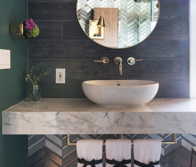 Trending This Season: 9 Splash of Color Bathroom Designs
