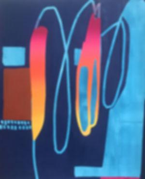 Morgan WardOil and acrylic  wash on Canvas  and board  152.4 x 182.88  cm