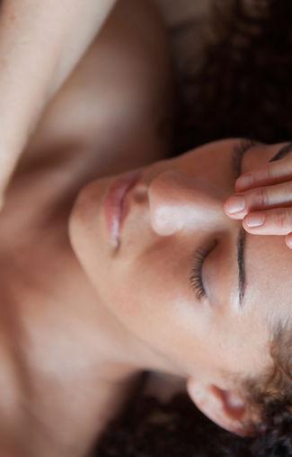 woman receiving reiki from love healing
