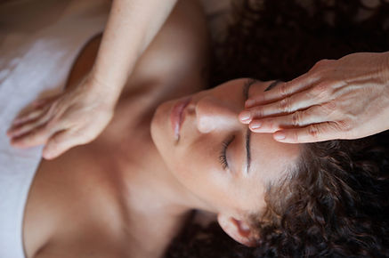 Lady receiving reiki