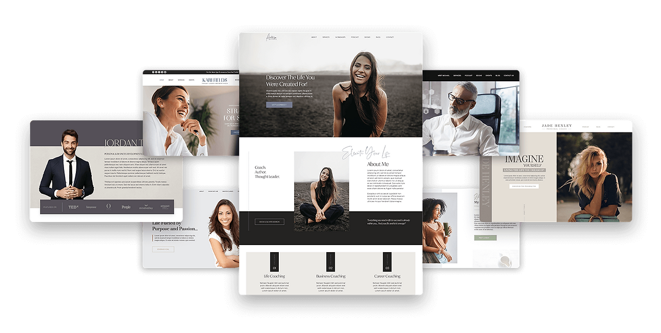 Wix Templates For Coaches. Wix Business Coach Templates, Wix Coaching Templates, Coach Website Templates, Wix Pro Themes
