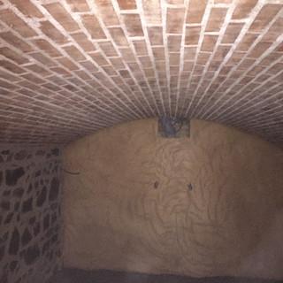 La cave voûtée en brique est prête !