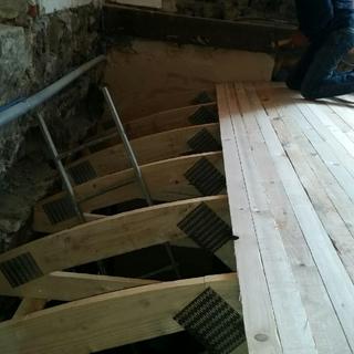 Couverture en bois de la voûte