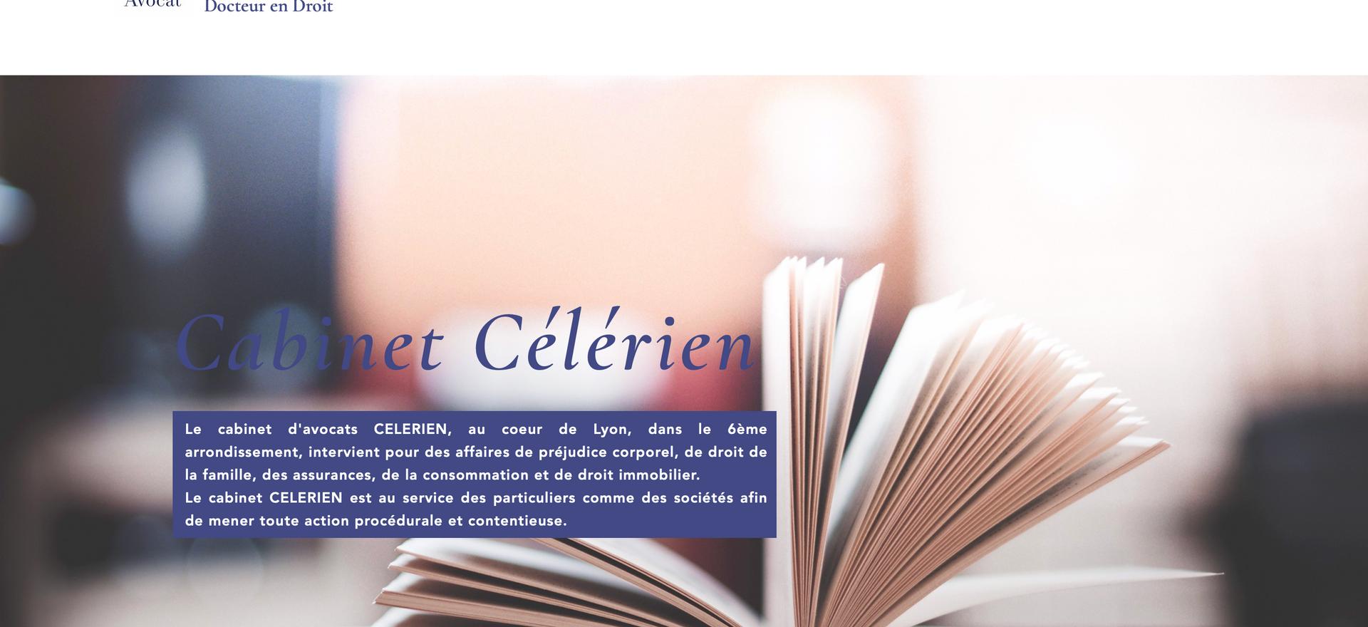 Site Cabinet Avocats Célérien Lyon