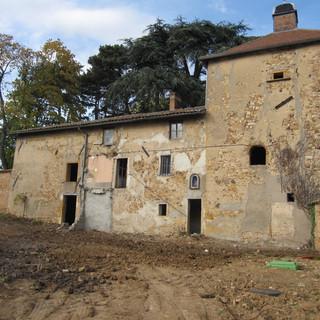Vue de l'ancien corps de ferme