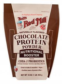 אבקת חלבון טבעונית בטעם שוקולד