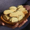מגולגלות חלווה עוגיות ללא גלוטן