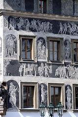 sgraffito façade