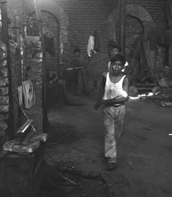 BOY GLASS BLOWER - 1957