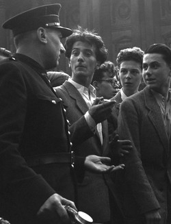 FRENCH STUDENTS AND POLICEMAN - 1949