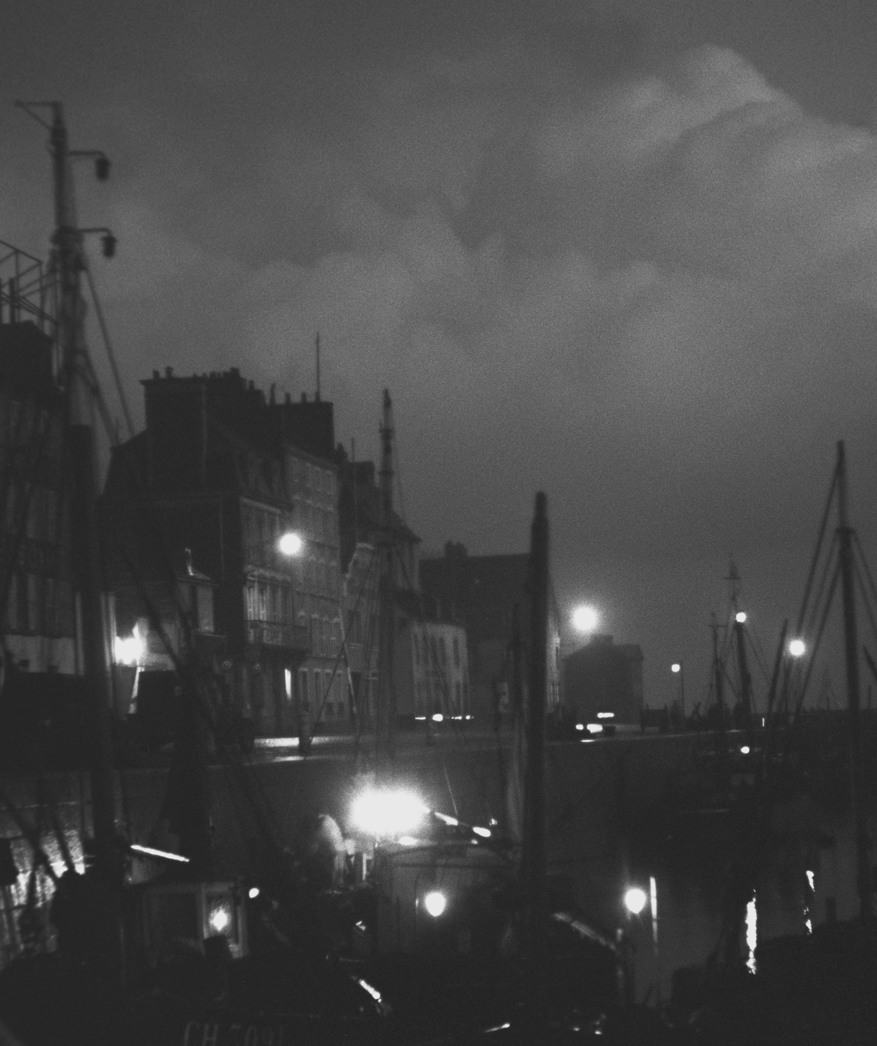 SEAPORT AT NIGHT - 1949
