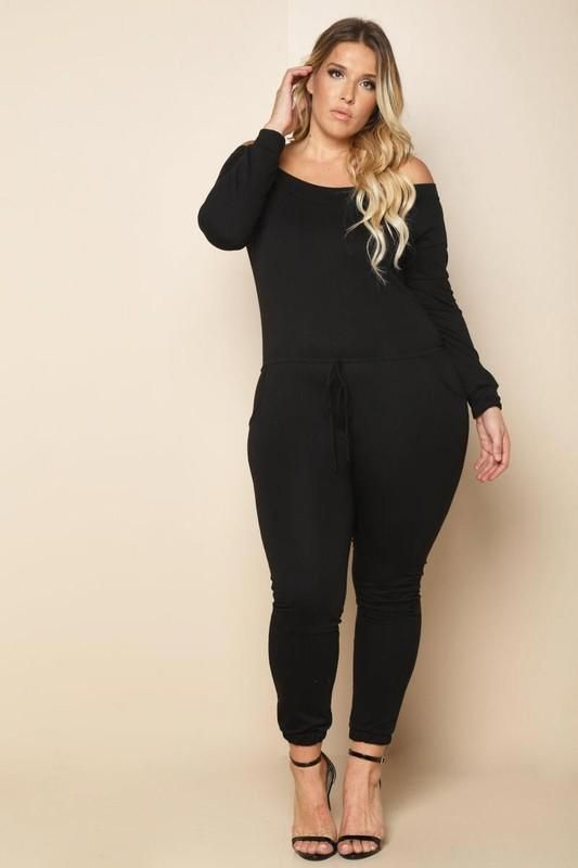 full figured jump suit