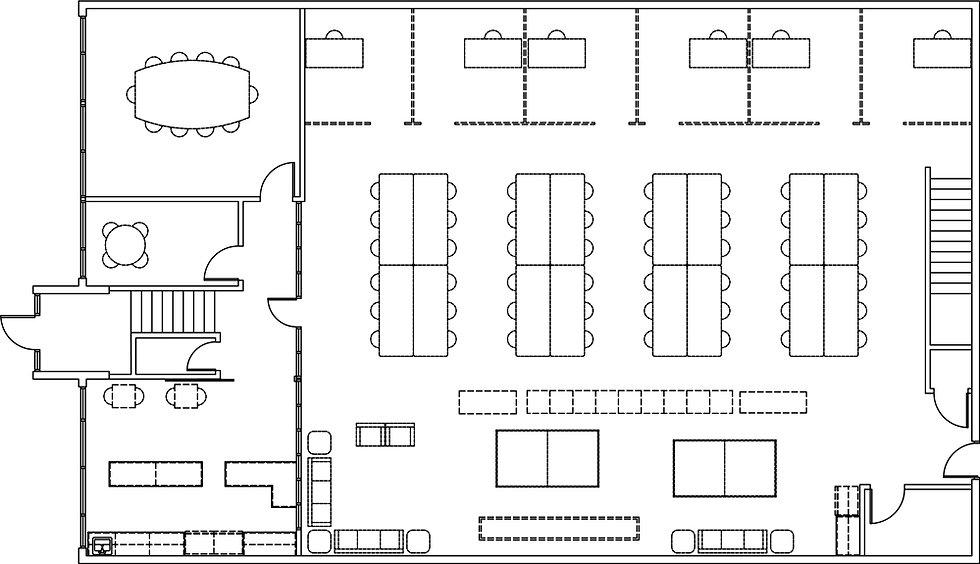 Park Coworking Basement Floor Plan