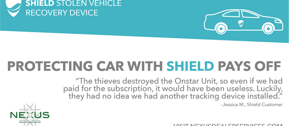 SHIELD ENABLES STOLEN VEHICLE RECOVERY WITHIN SAME DAY OF THEFT
