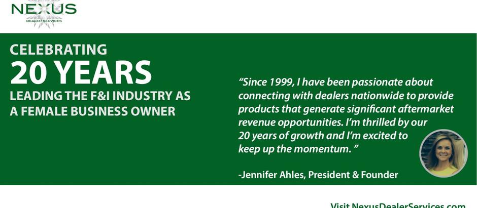 Nexus Dealer Services Celebrates 20 Years