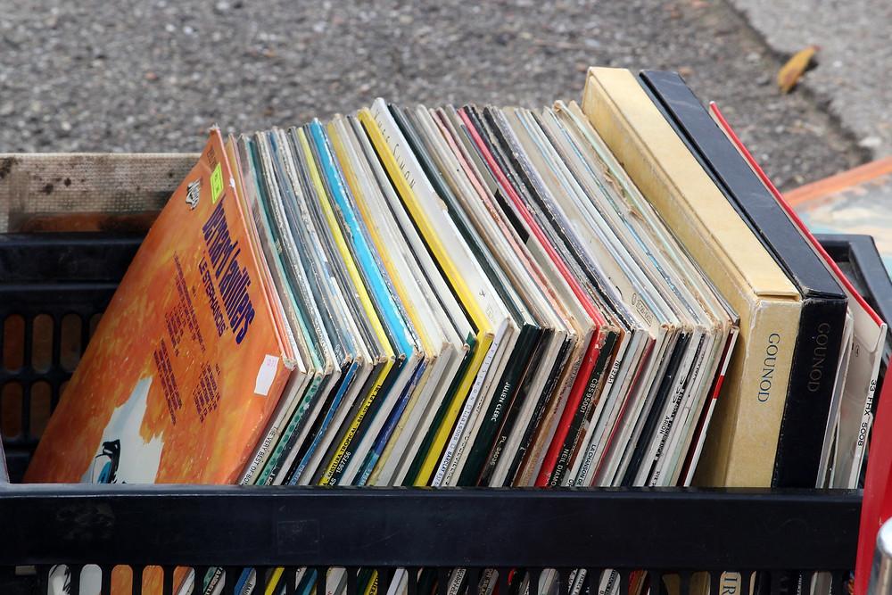Vinyles en brocante