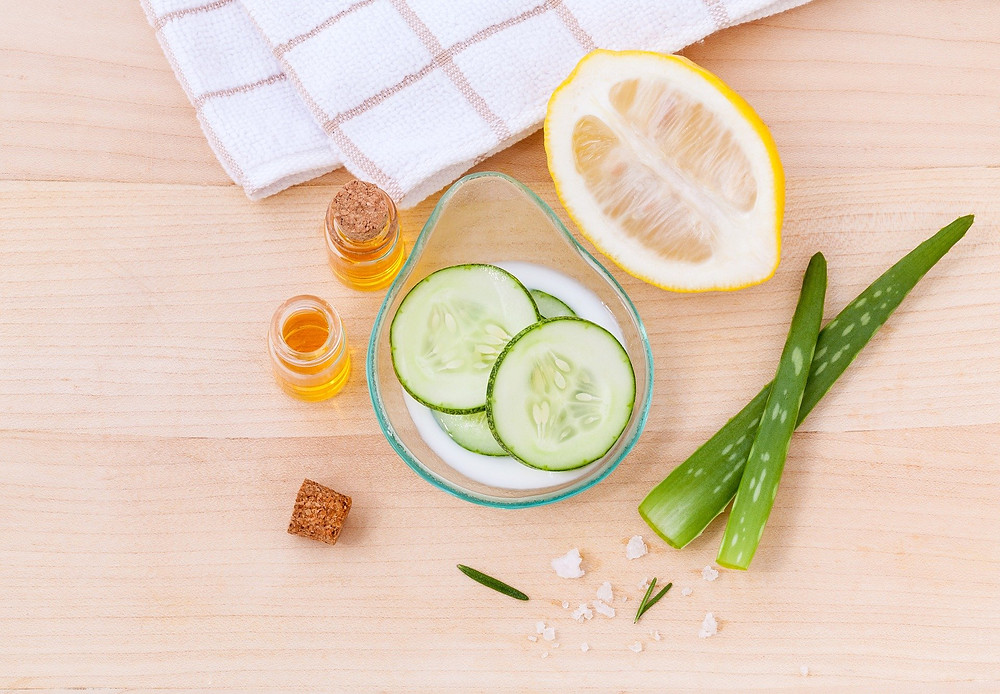 soin aloe vera concombre citron miel