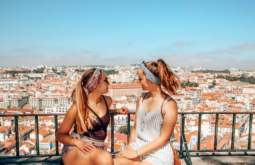 balcon, copines, soleil