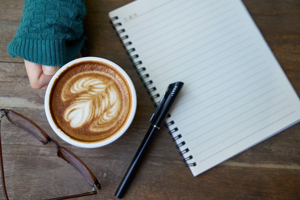 café carnet réflexion