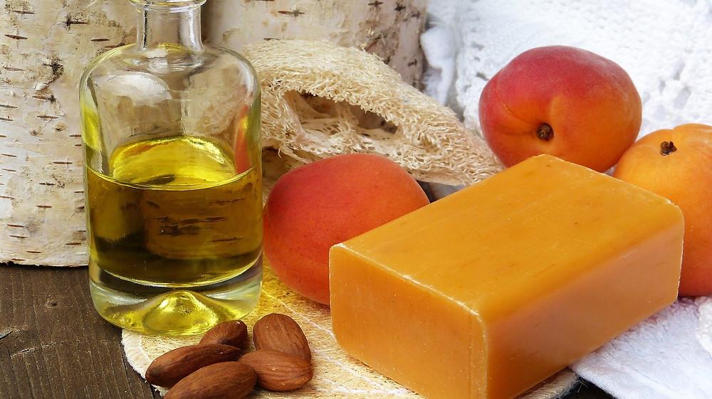 savon huile abricot amande