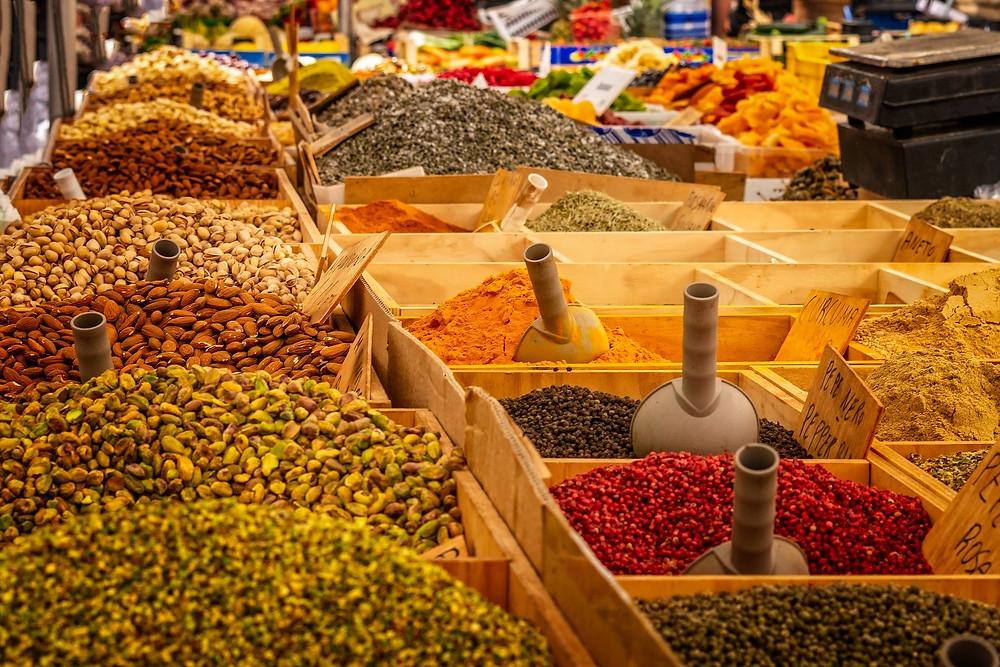 épices, couleurs, vrac