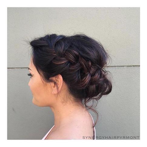 Soft braided upstyle for Sarina _ _hairc