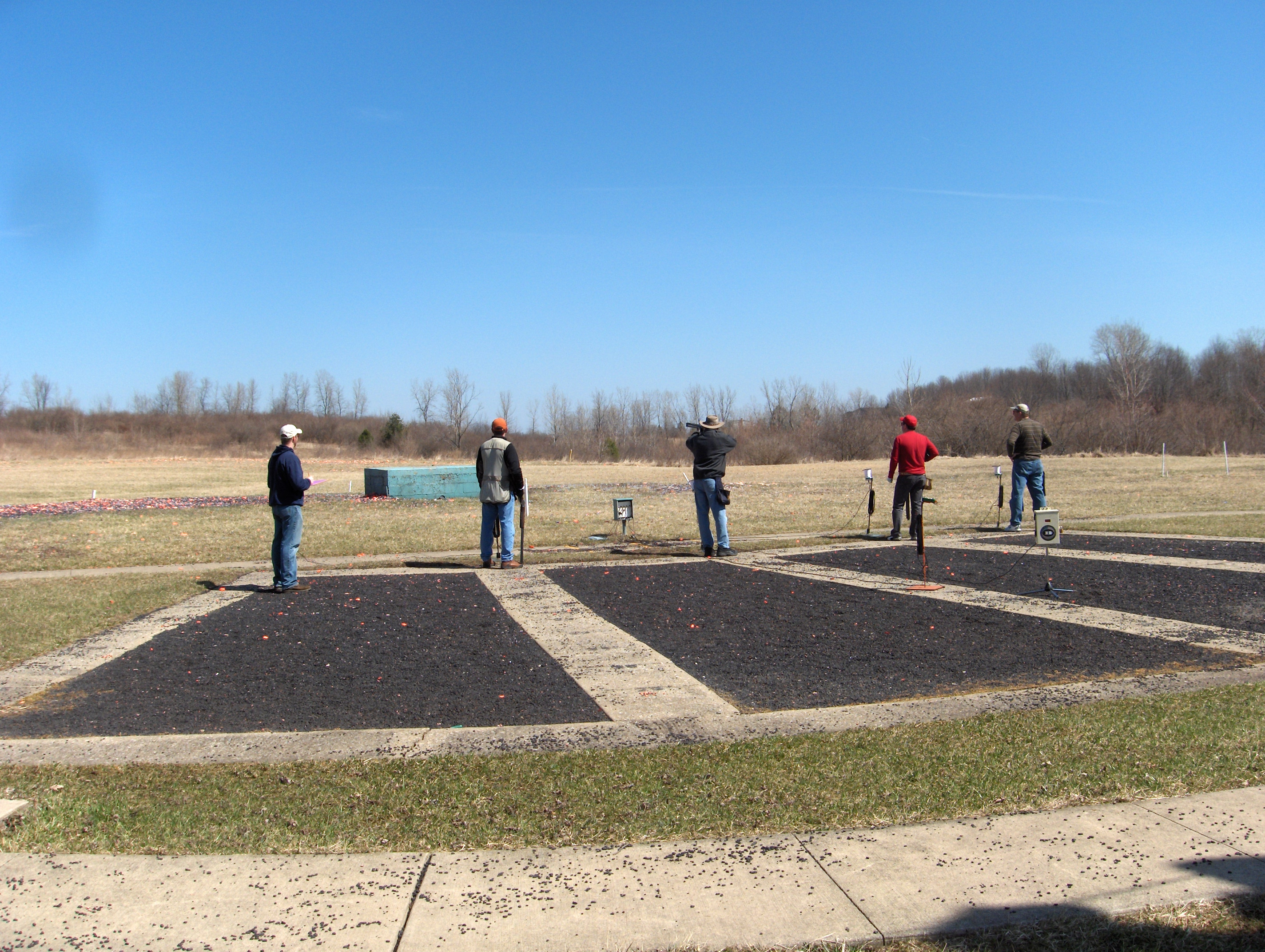Trap shooters enjoying a round!