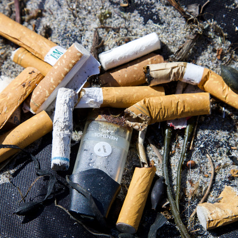 Cigarette Butts and Juul Pods