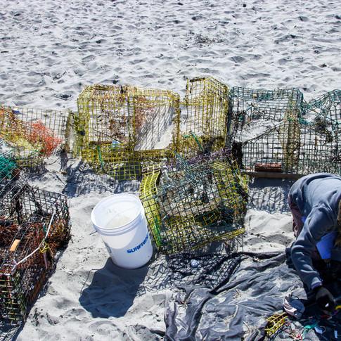 Derelict Lobster Fishing Gear