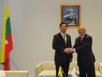 駐日ミャンマー大使館を表敬訪問