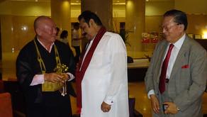 スリランカ前大統領と会見