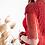Thumbnail: Красное силуэтное платье