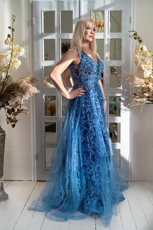 Синие с камнями For Costume