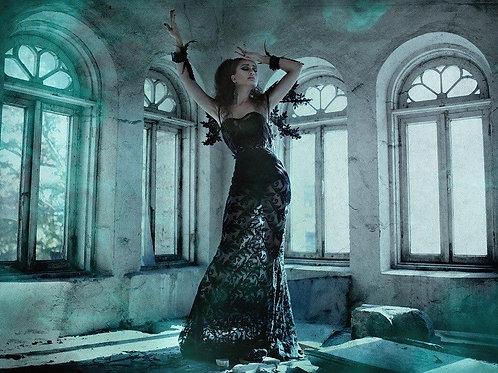 Ажурное платье с подкладкой