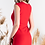 Thumbnail: Красное стрейчевое платье