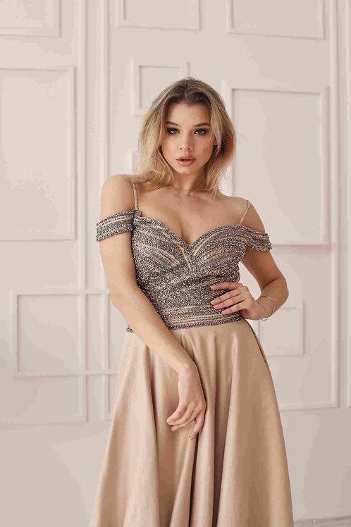Золотое платье с камнями