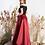 Thumbnail: Атласное платье (черно-красное)