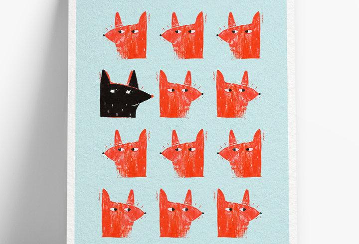 Print Fox(y) Lady