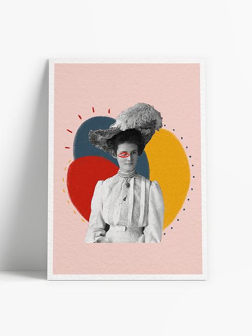 Print Lady Eye