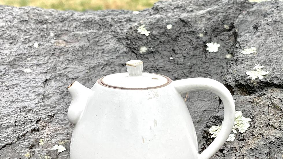 Glazed White Teapot 100ml