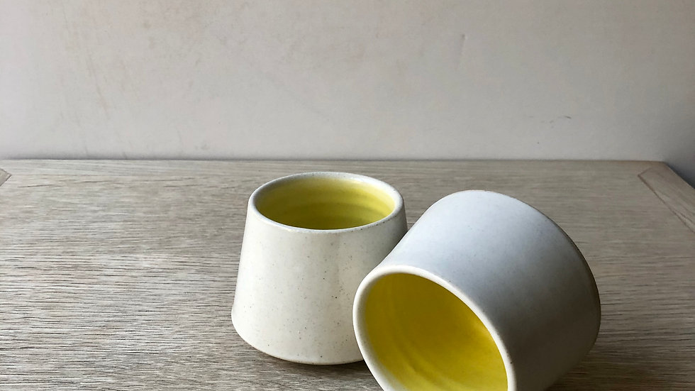 Cup medium with yellow glaze | tea or coffee (120ml) | Erin Clancy Ceramic