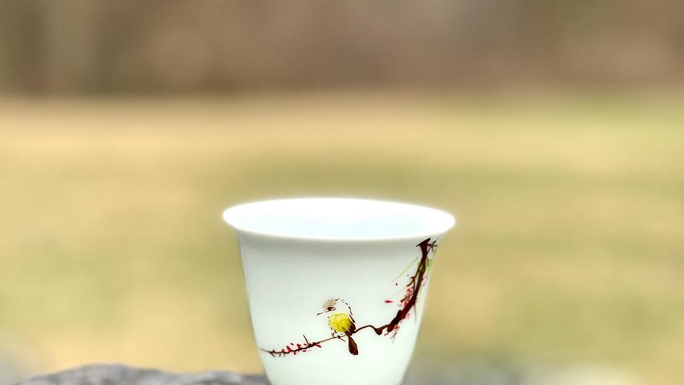A Teacup | Tulip with a bird