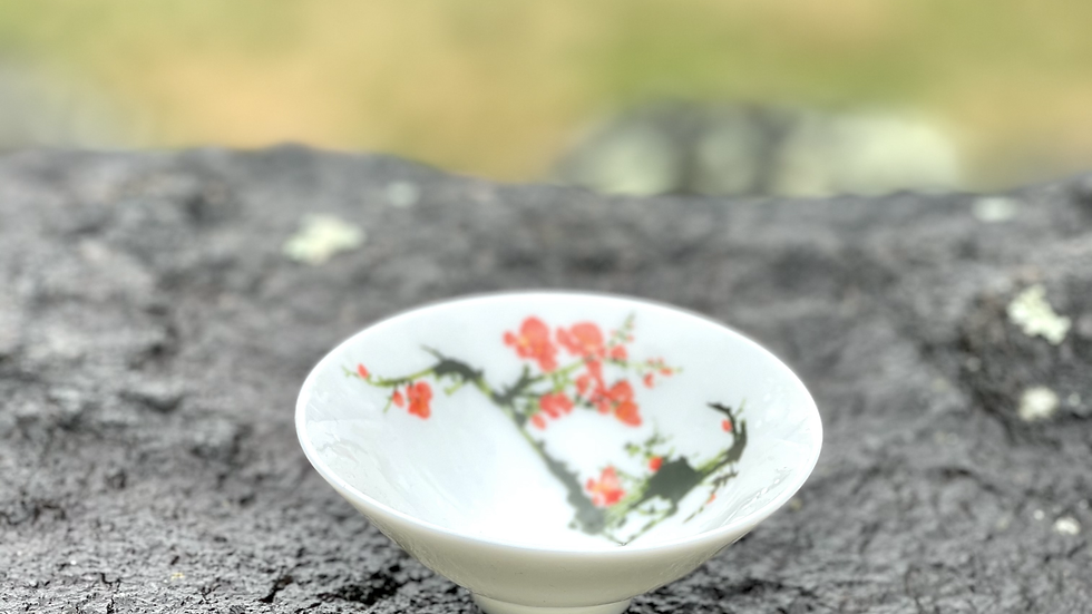 Set of Four Teacups - Cherry Blossom