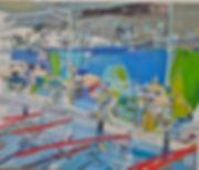 olympic series 300 relay#1_oil on masoni