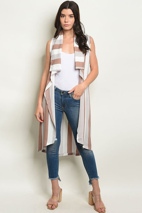 Mauve Stripes Vest