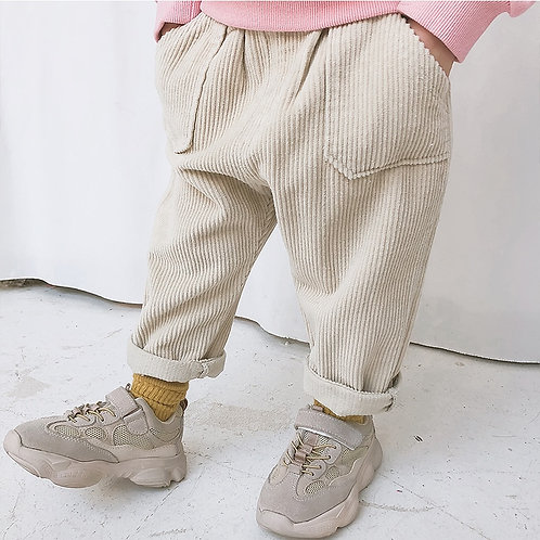 Kids Trousers Corduroy Unisex Pants